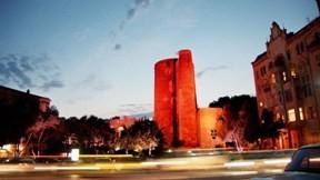 bakü,şehir,kız kulesi