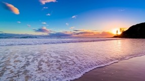 deniz,kumsal,günbatımı,gökyüzü