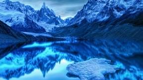 dağ,göl,kar,buz,manzara,doğa