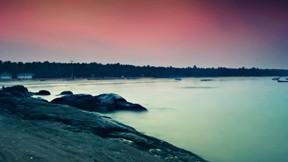 göl,gökyüzü,doğa,ev
