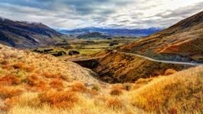 doğa,tepe,yol,gökyüzü