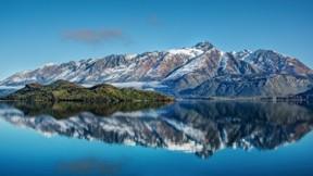 göl,doğa,dağ,kar,gökyüzü