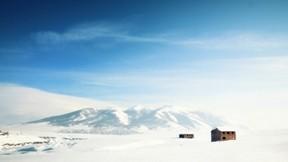 kış,doğa,ev,kar,gökyüzü