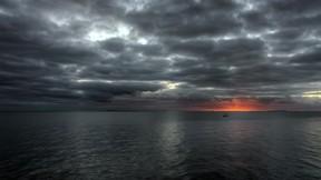 deniz,hdr,günbatımı,tekne,bulut