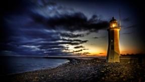 deniz feneri,hdr,deniz,bulut,gökyüzü