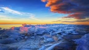 hdr,buz,deniz,gökyüzü