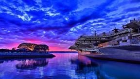 hdr,deniz,uçak gemisi,bulut,gökyüzü,askeri taşıt