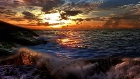 hdr,güneş,doğa,deniz,günbatımı,bulut