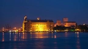 haydarpaşa,gar,istanbul,deniz,gece