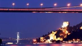 istanbul,köprü,deniz,rumeli hisarı,gece
