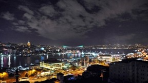 istanbul,gece,haliç,köprü