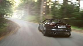 jaguar,f-type,sürüş,ağaç,orman,güneş,yol