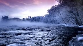 kar,göl,kış,ağaç,gökyüzü