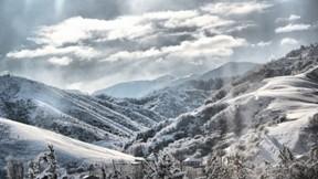 kış,kar,orman,gökyüzü,bulut