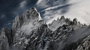 kış,dağ,bulut,kar,gökyüzü