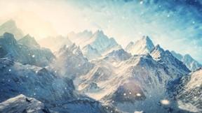 dağ,kış,kar,güneş,gökyüzü