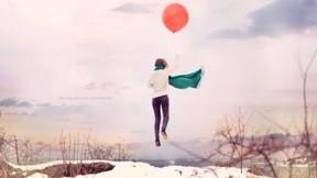 kış,kar,gökyüzü,balon
