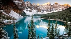 kış,göl,orman,dağ