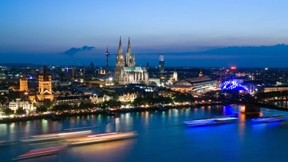köln,nehir,köprü,şehir,gemi,gece