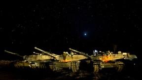 m1 abrams,tank,gökyüzü,askeri taşıt,yıldız,gece