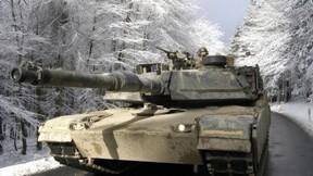 m1 abrams,tank,askeri taşıt,kış,kar,ağaç,asker