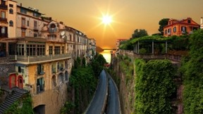 sorento,şehir,güneş,deniz,ev
