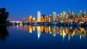 vancouver,şehir,gece,deniz