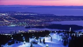 vancouver,şehir,günbatımı,kar,kış