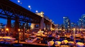 vancouver,şehir,gece,deniz,marin