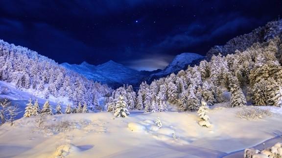 Gece Kar Manzarası