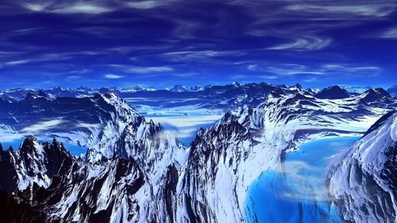 Mavi Karlı Dağ