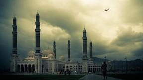 el salih,cami,sana,yemen,gökyüzü,bulut