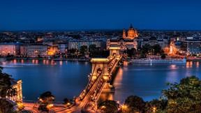 budapeşte,macaristan,şehir,gökyüzü,köprü