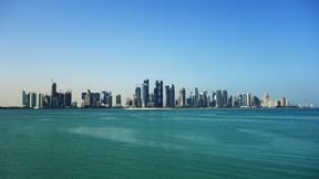 doha,katar,kule,deniz,gökyüzü