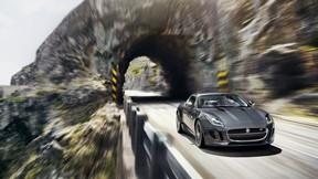 jaguar,f-type,r coupe,araba,sürüş,yol,doğa
