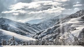 kış,dağ,kar