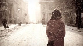 kış,şehir,kar