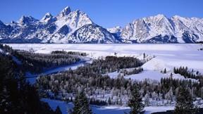 kış,kar,ağaç,vadi,dağ,orman,gökyüzü
