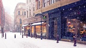 kış,kar,sokak