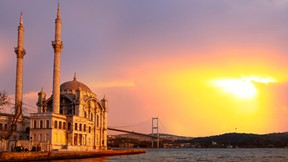 mecidiye cami,cami,günbatımı,deniz,köprü