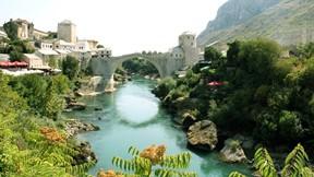 saraybosna,bosna hersek,şehir,nehir,köprü,mostar