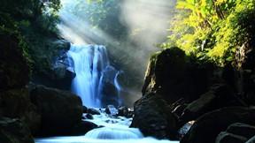 şelale,doğa,gündoğumu,kayalık,orman