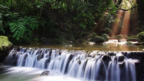 şelale,doğa,orman,nehir,güneş