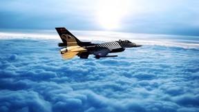 solo türk,gökyüzü,bulut,f-16
