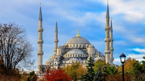 sultan ahmet cami,sonbahar