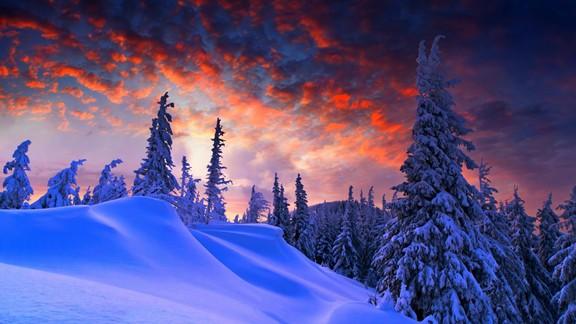 Günbatımı Kar