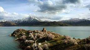 turizm,akdamar adası,ada,van,van gölü,dağ,kar