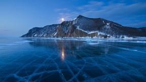 baykal gölü,rusya,gece,göl