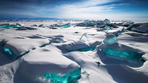 baykal gölü,rusya,buz,kar,güneş