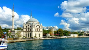 bezmiâlem valide sultan cami,dolmabahçe,istanbul,deniz,gökyüzü,cami